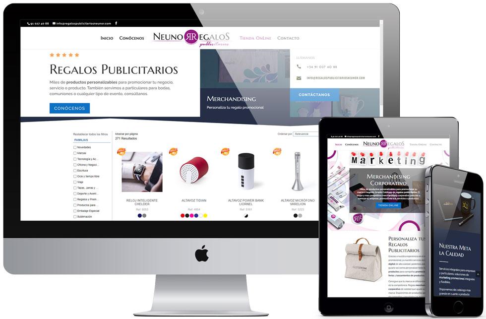 Tienda Online RegalosPublicitariosNeunor.com